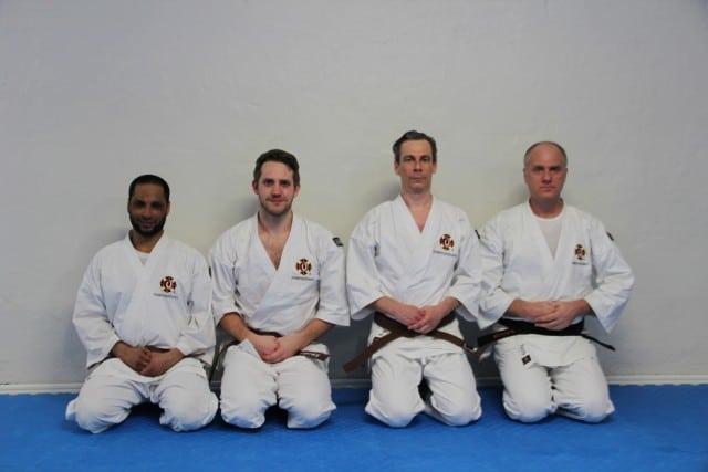 Seif, Jonathan, Heike & Patrik efter avklarad gradering. Stort grattis!